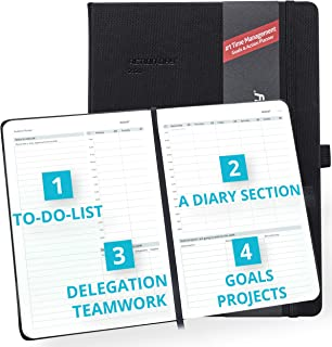 Clearance Sale - Action Day Academic Planner 2019-2020 - #1 Time Management Design & Get Things Done, Daily Weekly Monthly Yearly Journal, Agenda, Hardcover, Pocket, Pen Loop (8x11, Black)
