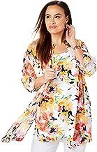 Jessica London Women`s Plus Size Georgette Button Front Tunic