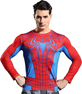 Spiderman Men's 3D Printed Compression Sport Fitness T-Shirt