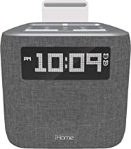 iHome iPL8XHG Dual Alarm FM Clock Radio with Lightning Dock for iPhone with USB Charging