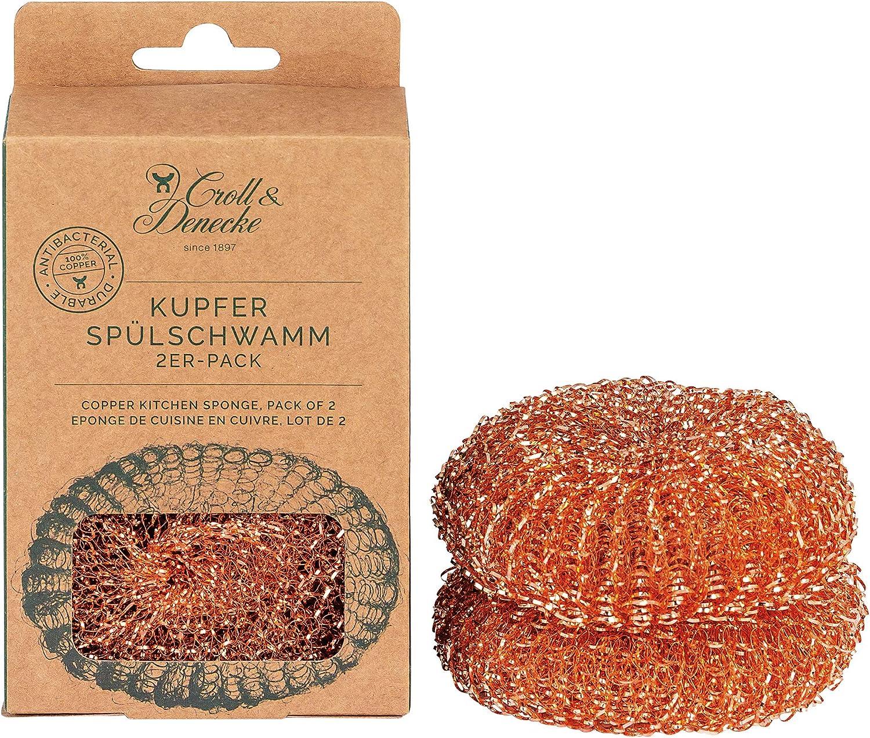 CROLL & DENECKE Paquete de 2 esponjas de cobre de 48 g.
