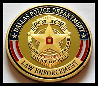 Dallas Police Department Colorized Challenge Art Coin