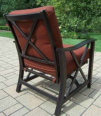 Oakland Living 2 Piece Haywood Deep Seat Rocking Chairs, Antique Bronze