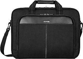 Targus Pasta clássica fina com design de bolsa tiracolo para viagens profissionais de negócios e proteção de laptop para l...