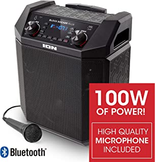 ION Audio Block Rocker Plus | 100W Portable Speaker, Battery Powered with Bluetooth,..