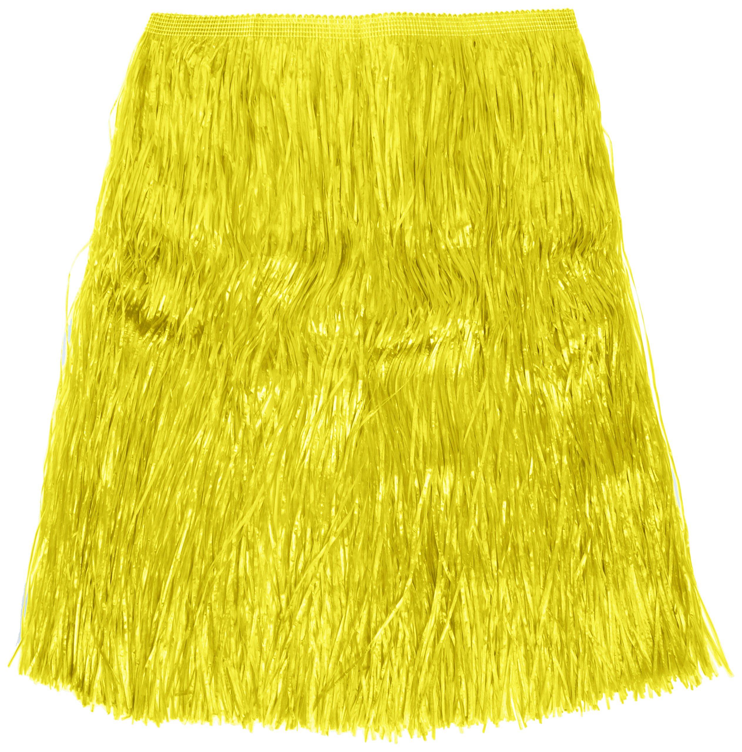 Verbetena - Falda Hawaiana rafia larga, color amarillo con velcro ...