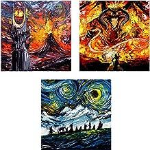 3 print set - Lord of the Rings Art - Fantasy Art - Starry Night - van Gogh - Fine art prints - Art by Aja 8x8, 10x10, 12x12, 20x20, 24x24 inches choose