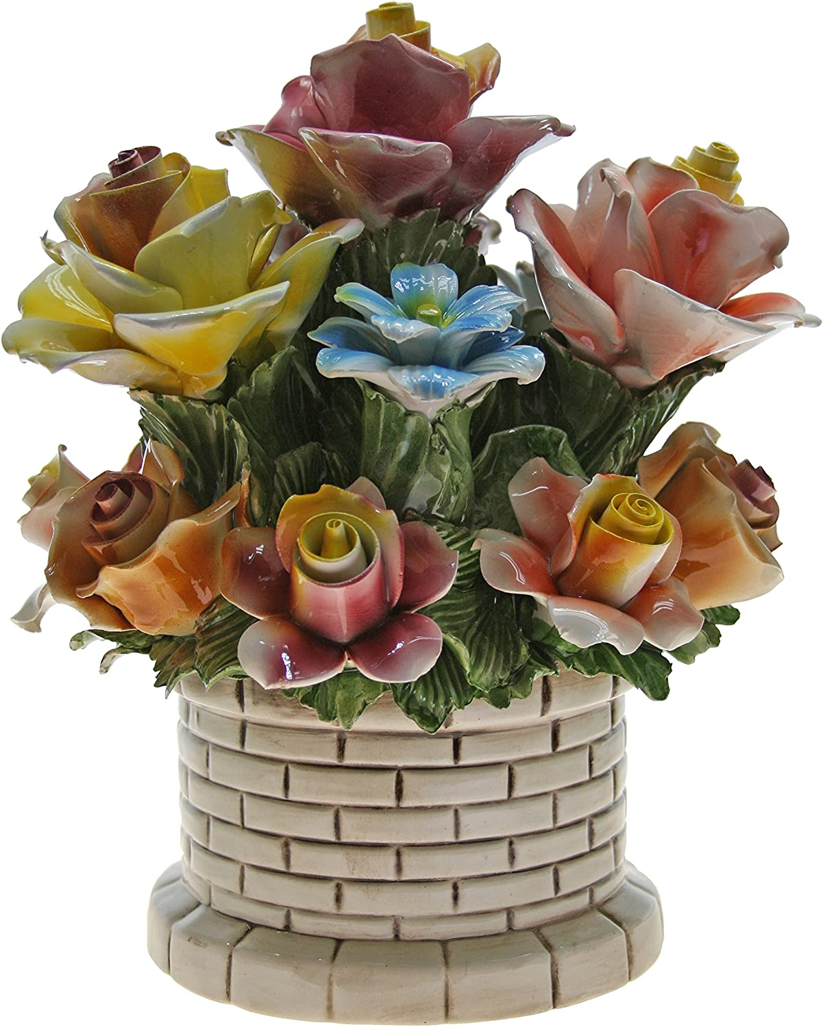 100% quality warranty! Capodimonte Authentic Handmade Italian Rose Floral Br Bouquet in Max 64% OFF