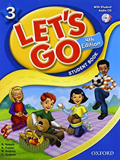 Let's Go 3 Student Book with CD: Language Level: Beginning to High Intermediate.  Interest Level: Grades K-6.  Approx. Reading Level: K-4 (Let's Go (Oxford))