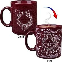 Harry Potter Marauder's Map Heat Reveal Ceramic Coffee Mug - Image Activates with Heat - 20 oz