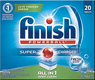 Finish All In 1 Powerball, Fresh 20 Tabs, Dishwasher Detergent Tablets (Pack of 2)