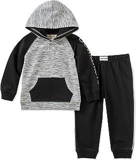 Calvin Klein Baby Boys 2 Pieces Hooded Jog Pant Set - Buttons