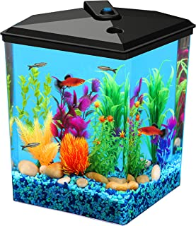 Koller Products AquaView 2.5 gallon Fish Tank - Power Filter - LED Lighting (AP25000FFP)