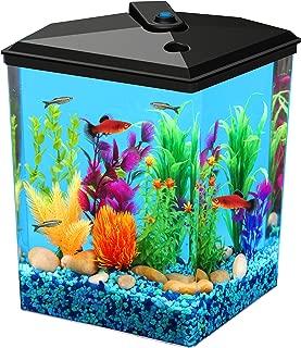 Koller Products AquaView 2.5 gallon Fish Tank - Power Filter - LED Lighting