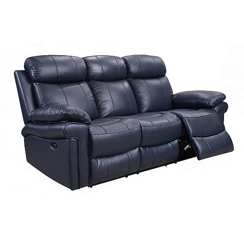 Blue Leather Sofa: Amazon.com