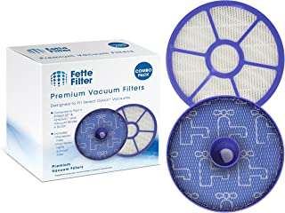 Fette Filter - HEPA Post-Motor Filter & Pre-Motor Filter Compatible for Dyson DC33. Fits DC33 Multi Floor, DC33 Total Clean, DC33 Exclusive Vacuums. Compare to Part # 919563-02 & 921616-01. Combo Pack