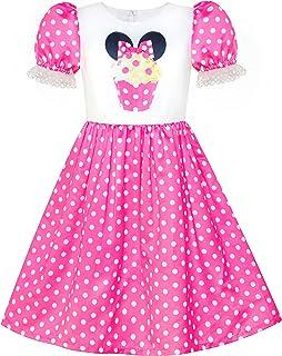 Sunny Fashion Girls Dress Birthday Princess Ruffle Dress Cake Balloon Print