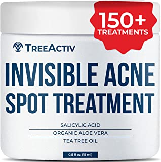 TreeActiv Invisible Acne Spot Treatment All Natural Goes On Clear Works Under Makeup Quickly Reduces Blemishes Safe For Se...