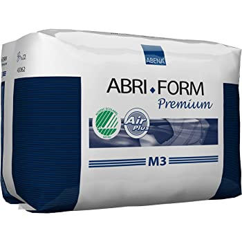Abena Abri-Form Premium Incontinence Briefs, Medium, M3, 22 Count