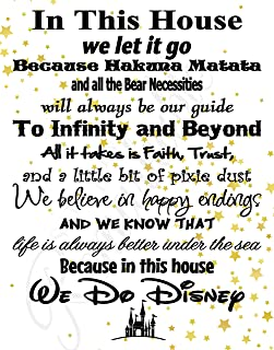 disney house rules poster