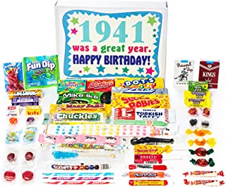 Woodstock Candy ~ 1941 78th Birthday Gift Box of Nostalgic Retro Candy Mix from Childhood for 78 Year Old Man or Woman Born in 1941