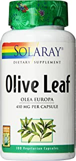 Solaray Olive Leaf Capsules, 410 mg | 100 Count
