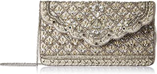 Accessorize London Eve Bags-Handbag Women's Clutch (Silver)
