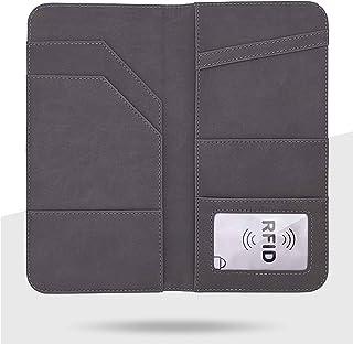 パスポートケース 航空券対応 KiBooMy 通帳ケース 軽量 PUレザー製 スキミング防止カードケース付属 財布兼用 海外旅行用品