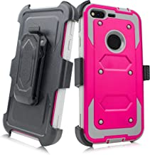 Google Pixel XL Case, Customerfirst, Full-body Rugged Belt Clip Holster Case with Built-in Screen Protector, Locking Belt Swivel Clip Holster Cover for Google Pixel xl 5.5 inch (Pink Gray)