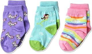 K. Bell Socks baby-girls Super Soft Novelty Crew Socks (3 Pair) Casual Sock