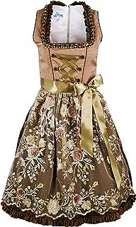 Iseaa Damen Dirndl Kleid Dirndlkleid Trachtenkleid Dana in Bronze