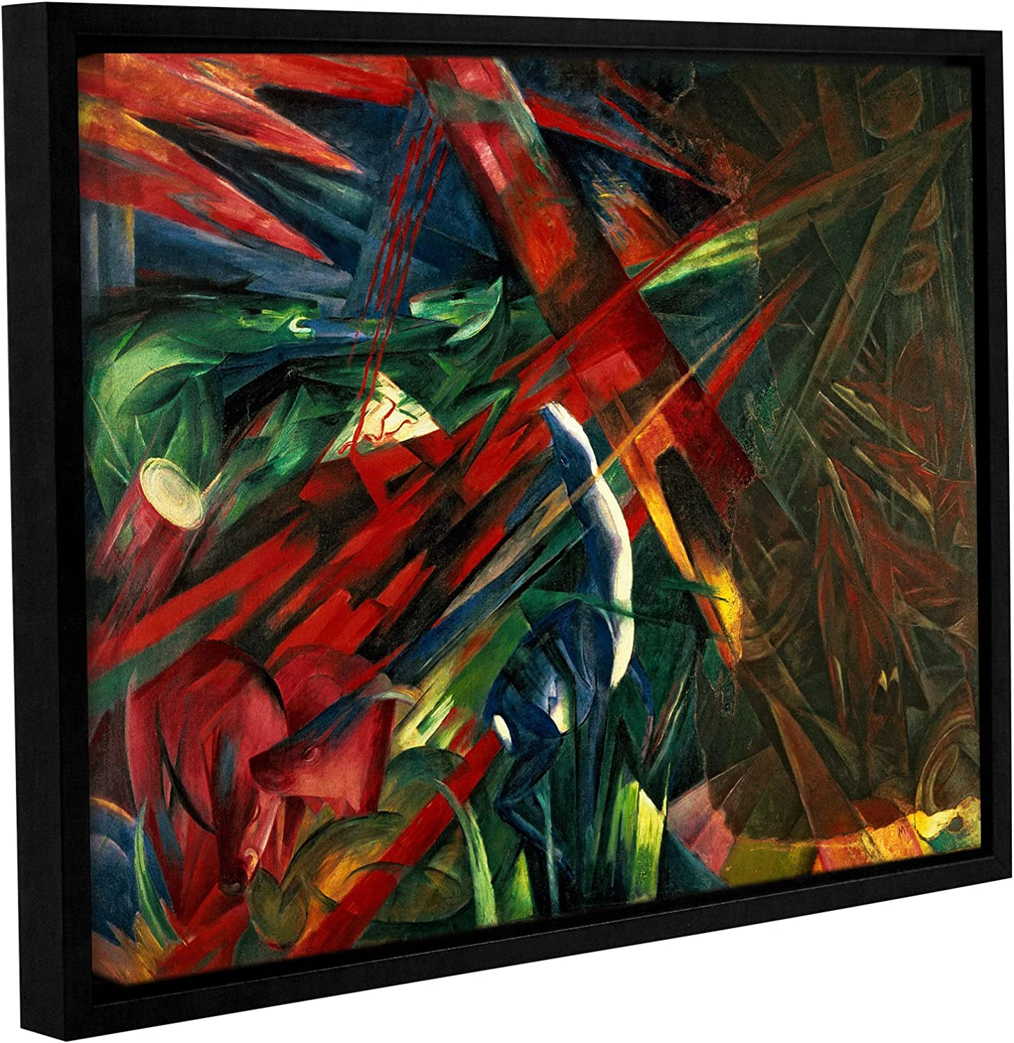 Franz Marc's Fate of The Animals, Gallery Wrapped Floater-Framed Canvas 24x32