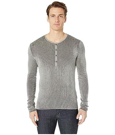 John Varvatos Collection Long Sleeve Henley Y2530U4 (Light Grey Heather) Men