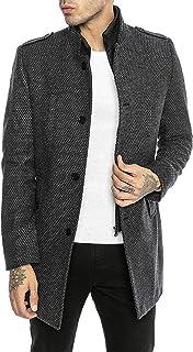 Redbridge Cappotto da Uomo elegante Giacca lunga invernale Slim Fit Transformable