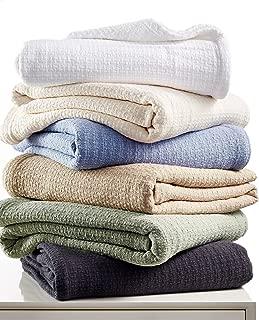 Ralph Lauren Premium Cotton Textured Weave Blanket Full/Queen Charcoal Gray