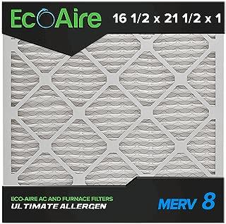 16 1/2 x 21 1/2 x 1 MERV 8 Pleated Air Filter, Box of 6