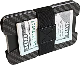 "FIDELO Carbon Fiber Minimalist Wallet - Slim Credit Card Holder Money Clip Wallets for Men - Designed for Front Pocket EDC & Travel – Light Weight & Compact: 3.6"" x 2.25"" - (Holds Business Cards)"