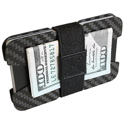 8fa3dc701d663 FIDELO Carbon Fiber Minimalist Wallet - Slim Credit Card Holder Money Clip  Wallets for Men -