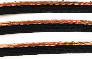 Copper Cord-edge Piping Trim -copper on Black lip -Lip Cord for Clothing Pillows, Lamps, Draperies 5 Yards Pi-129/108