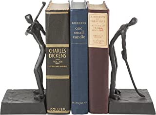 Danya B. ZI16003 Golfers Iron Bookend Set – Golf Home and Office Décor - Great Gift Idea for Golf Lovers