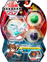 Bakugan Starter Pack 3-Pack, Haos Nillious, Collectible Transforming Creatures, for Ages 6 and Up