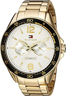 Tommy Hilfiger Men s Sophisticated Sport Quartz Watch with  Gold-Tone-Stainless-Steel Strap 2e518845471
