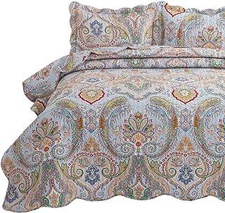 Bedsure 3-Piece Bohemia Paisley Pattern Queen Size...