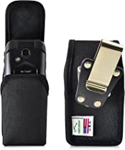 Turtleback Belt Clip Case Made for Kyocera DuraXV LTE E4610 Black Vertical Holster Nylon Pouch with Heavy Duty Rotating Be...