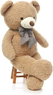 DOLDOA Big Teddy Bear Stuffed Animals Plush Toy for Girlfriend Children (47 inch, Tan)
