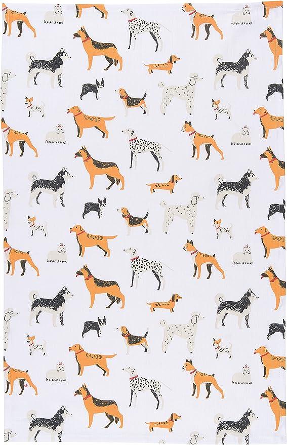 Amazon Com Now Designs Cotton Kitchen Towel Dog Days Print Home Kitchen
