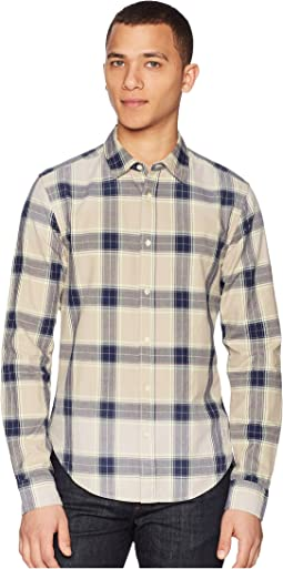 Regular Fit Classic Twill Shirt with Yarn-Dyed Check Pattern