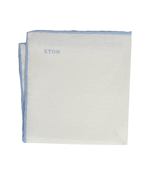 Eton Border Linen Pocket Square
