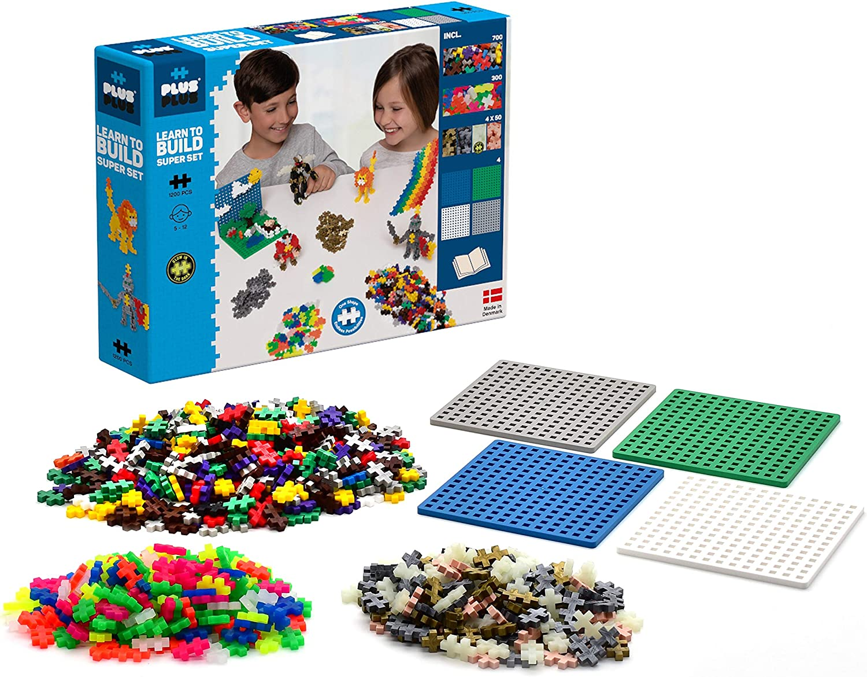 Plus-Plus 9603811 - Mini Juguete de construcción Genial, 1200 Piezas, Multicolor