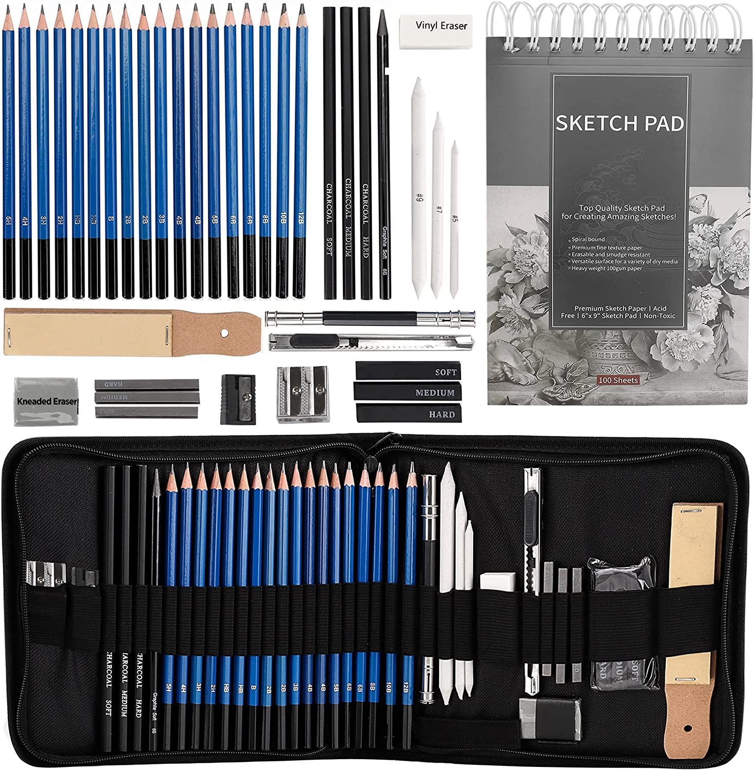 Drawing Pencils Sketch Art and Cheap mail order specialty store Incl Set 2021 new Set-40PCS